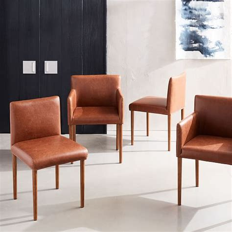 Leather Dining Armchair by Ellis Faux Leather Dining Armchair West Elm