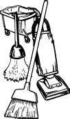 House cleaning services clip art