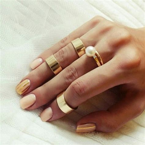 tumblr nails with white gold rings gold rings pictures photos and images for facebook