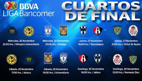 Calendario Liga Mx Octavos De Definidos Los Horarios De Cuartos De De Liga Mx