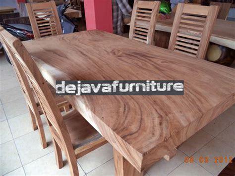 Kursi Meja Makan Koin Kayu Trembesi Solid meja makan minimalis antik solid wood 6 kursi jari jual