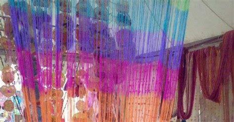 Tirai Pintu Dan Jendela Gorden Poliyester Pink Butterfly 1 string curtain tirai benang makmur jaya gorden