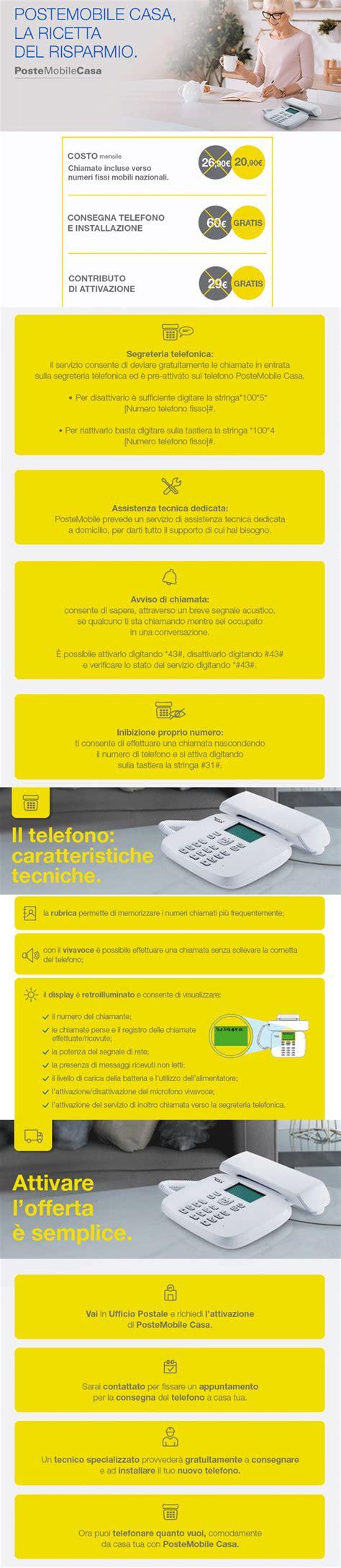www poste mobili it postemobile casa servizio di telefonia fissa su rete