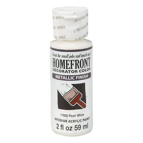 homefront 17600 2 oz pearl white metallic decorator color acrylic paint pack of 3 jet