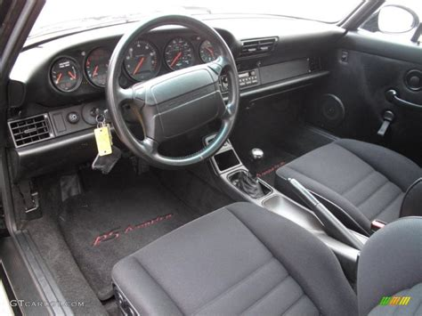 black porsche interior black interior 1993 porsche 911 rs america photo