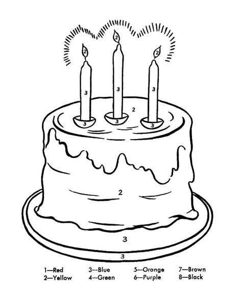 87 birthday cake with 5 candles coloring page 5