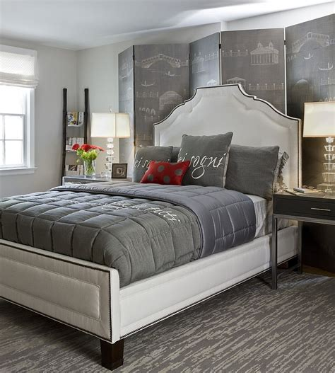 bedroom with gray bedding polished passion 19 dashing bedrooms in red and gray