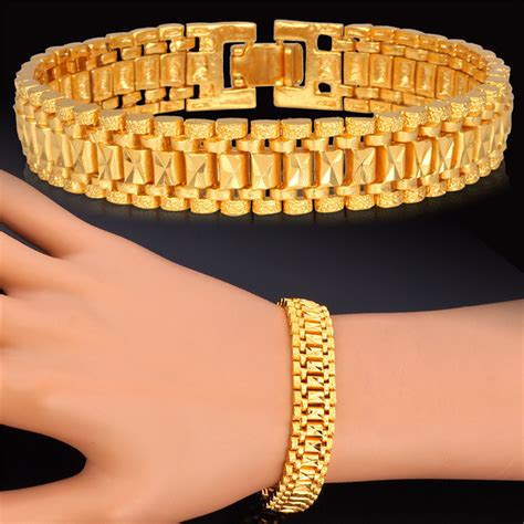 Gelang Black Gun Kb59600 popular mens gold bracelet buy cheap mens gold bracelet lots from china mens gold bracelet