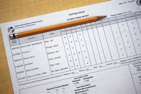 florida high school report card template high school student report card sle