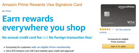 Amazon 70 Gift Card - amazon prime rewards visa signature 70 gift card bonus up to 5 cash back