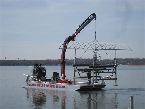 boat dock installation and removal near me boat lift transport from bruceski s boat lift dock