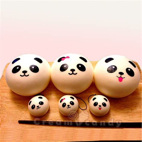Medium Character Bun Squishy Medium jumbo panda bun squishy free mini panda bun low in stock