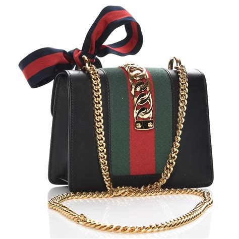 Mini Gucci Fashion 1090 gucci calfskin mini sylvie chain bag black 219621