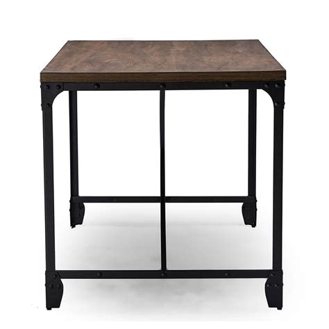 industrial modern desk industrial wood desk modern furniture brickell collection