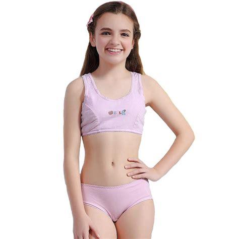 training bra junior girls in panties aliexpress com buy wofee cotton training bra and pants