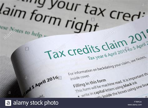 Working Tax Credit Forms Tax Credits Claim Form Re Working Tax Credit Welfare
