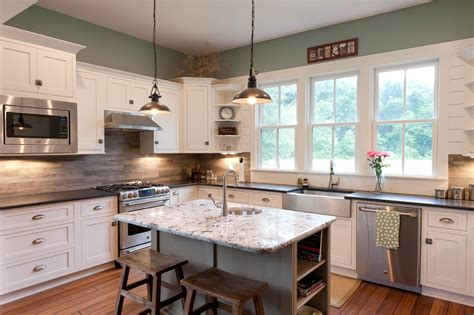 Wood Kitchen Backsplash Make Your Kitchen With Alaska White Granite Homestylediary