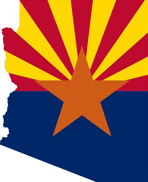 State Of Arizona Records Arizona Map And Flag