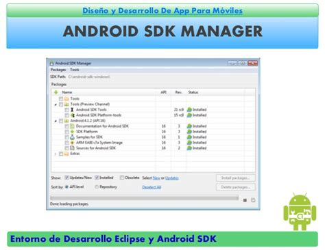 eclipse android sdk entornos de desarrollo eclipse y android sdk