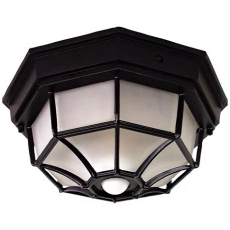 Outdoor Ceiling Sensor Light Octagonal Black Motion Sensor Outdoor Ceiling Light H7011 Www Lsplus