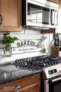 painted shiplap boards diy kitchen backsplash ideas funky junk yourself