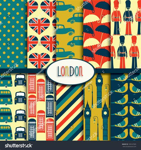 pattern grading in london london pattern collection stock vector illustration