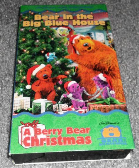 bear inthe big blue house christmas bear in the big blue house a berry bear christmas vhs oop very rare jim henson ebay