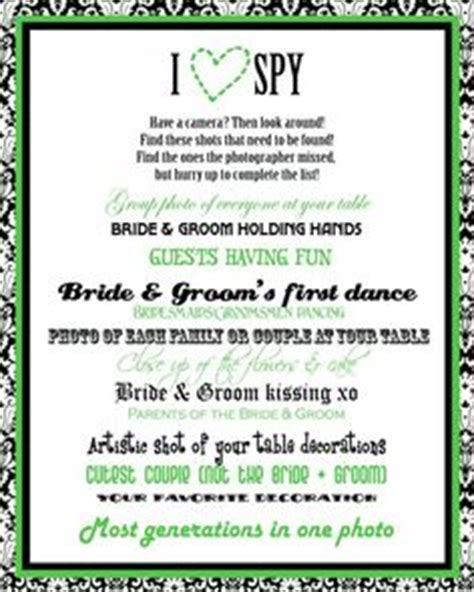 wedding scavenger hunt card templates 1000 images about ispy wedding photo scavenger hunt on
