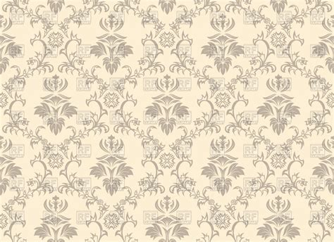 vintage pattern brown background seamless antique pattern brown wallpaper vector clipart