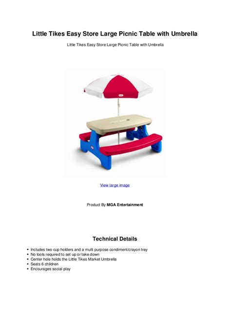 little tikes easy store picnic table with blue little tikes table umbrella decorative table decoration