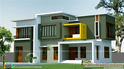 2500 sq ft house box model contemporary house 2500 sq ft kerala home