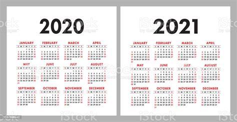 ilustracion de calendario   plantilla de diseno de calender vectorial cuadrado conjunto