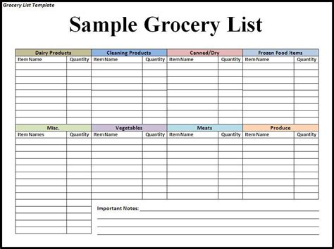 blank grocery shopping list template doc 576720 blank grocery list templates printable