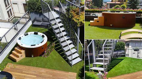 minipiscine da terrazzo prima e dopo terrazzo con minipiscina idromassaggio
