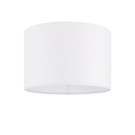 Cylindrical L Shade by Endon Lighting Obi 12 Inch Vintage White Linen Cylindrical