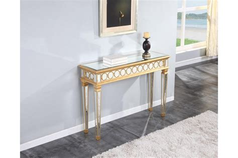 gold console table sofa tables tv stands mirrored console table in