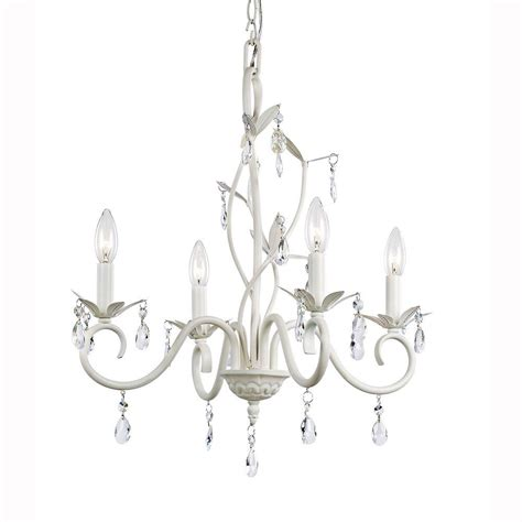 White Chandelier Hton Bay 4 Light White Accent Chandelier