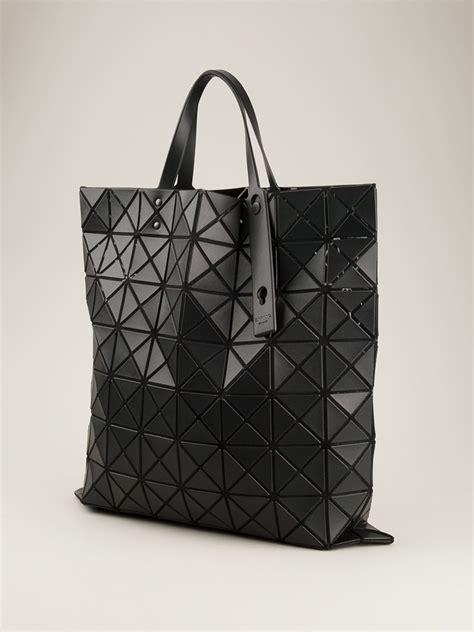Bao Bao Issey Miyake B169 lyst bao bao issey miyake prism tote in black