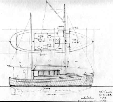 motor sailer boat plans northcoast 34 sail assisted motor vessel power boat