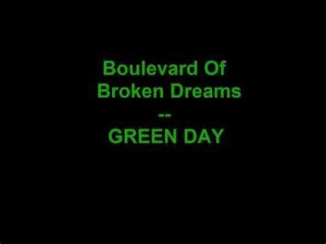 boulevard of broken dreams green day karoke download green day boulevard of broken dreams lyrics mp3
