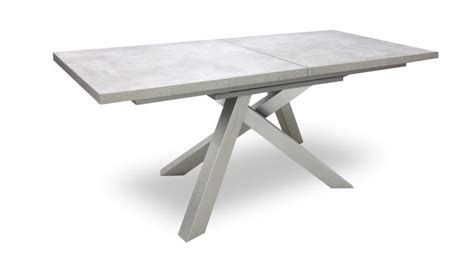 table beton inox a rallonges klow mobiliermoss salle a