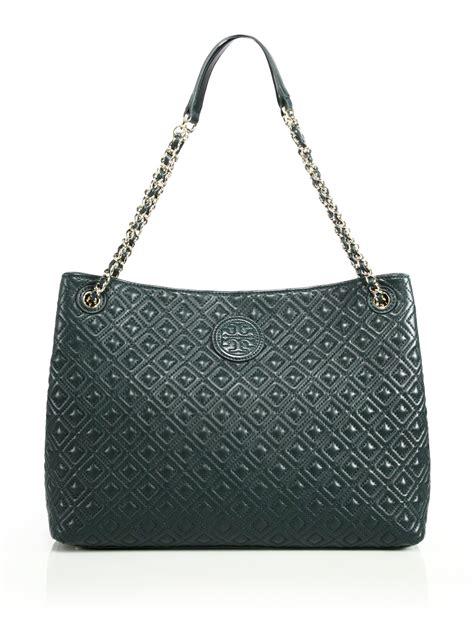 Tas Wanita Burch Quilted Shoulder Bag burch marion quilted chain shoulder bag in green green lyst