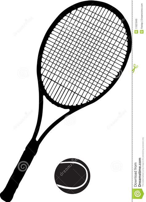 Promo Raket Tenis Silhouetee tennis racket and stock vector illustration of movement 11621849