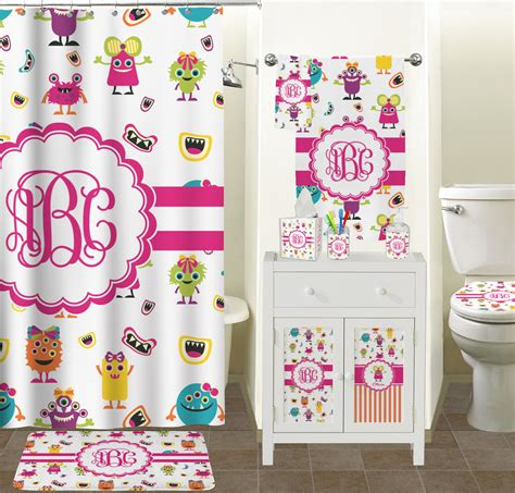 attachment bathroom shower curtains ideas 1436 girly monsters shower curtain personalized potty training