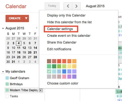 import google calendar calendar