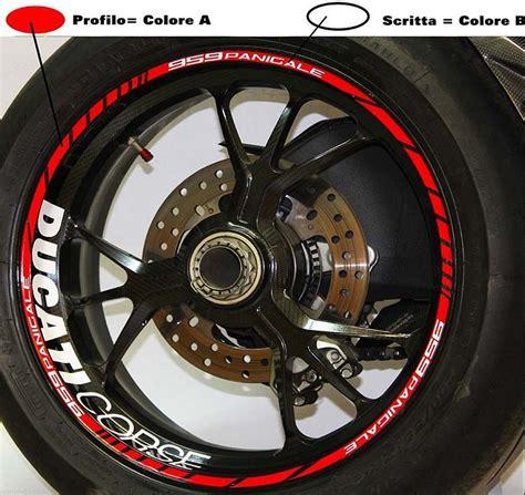 Ducati Corse Aufkleber Panigale by Felgenaufklebersatz Ducati Corse Rot F 252 R Ducati Panigale