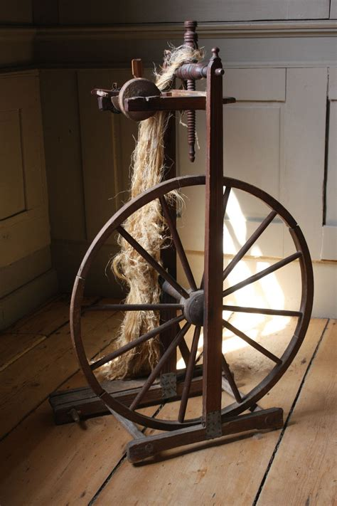 rare  museum quality upright   flax spinning