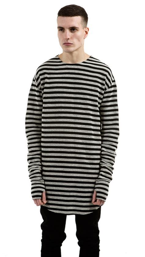 Hoodie I L Jidnie Clothing streetwear citi trends clothes clothing shirts black grey striped shirt