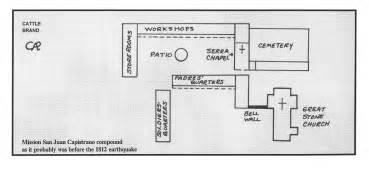 mission san juan capistrano floor plan california missions
