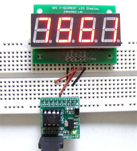 Counter 4 Digit serial four digit 7 segment led display module embedded lab